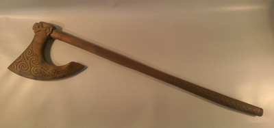 Celtic Axe by Jeff Bryan Decorative, Hand carved  from one peice of Totara