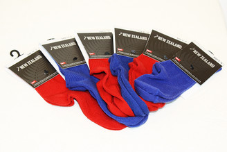 NZ Childs Merino Sock in Blue or Red