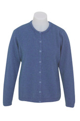 Bluebell colour, Ladies Possum Button Plain Cardigan, by Native World