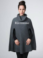 Riverstone Cowl Neck Poncho