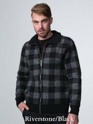 Black / Riverstone Grey Bush Check Jacket