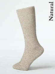 Lifestyle sock in a possum merino blend, natural fibres which wick moisture away. Suitable for both dress and everyday wear. Natural Beige.