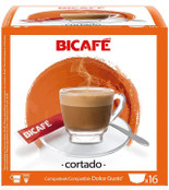 Coffee Capsules BiCafe Cortado Compatible with Dolce Gusto Pods 16 Capsule Packs