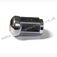Rounded/domed wheel nut