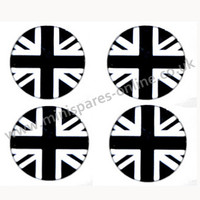 Union Jack black/silver overstickers