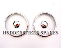 Chrome Air Vent Bezels pair for classic Mini