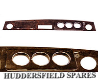 Direct Replacement RHD MPI Walnut Dashboard to use with original Rover fittings, classic Mini