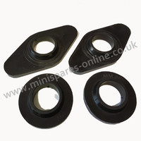 .Top Tower Late Front subframe Mountings, High grade polyurethane black bushes for classic Mini