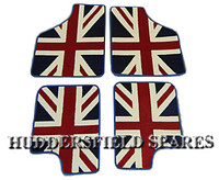 Union Jack 4 piece super deluxe overmats for classic Mini