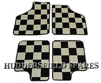 Chequer 4 piece super deluxe overmats for classic Mini