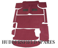 maroon red 12 piece carpet set