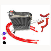 Fletcher Alloy Radiator & Silicone Hose Kit with clips Cooper S/1275cc, GRH247 kit