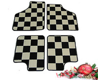 Deluxe chequered  floor mats for Classic Mini