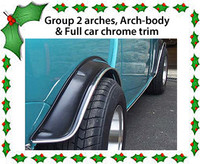 Group 2 arches and full car chrome trim Classic Mini