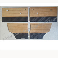 .Quality Fawn cordury tops with quilted bottom doorcards for classic Mini