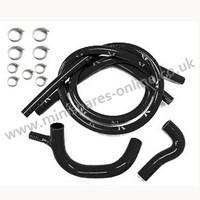 Black silicone coolant hose kit