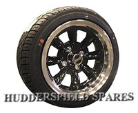 6x13 Ultralite Black Alloy Wheel Package for Classic Mini