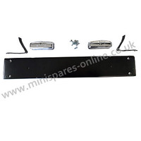Classic Mini van rear number plate bracket/carrier kit including brackets