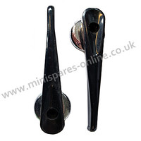 Black plastic interior door openers for classic Mini, USED PAIR