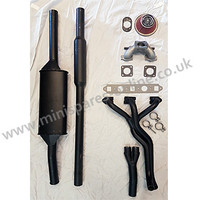 "Stage 1 tuning performance exhaust kit, Centre exit twin box system, HIF44/1.75""/1275cc for classic Mini"