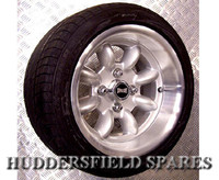7x13 Silver Superlight Softline deep dish alloy wheel package for Classic Mini