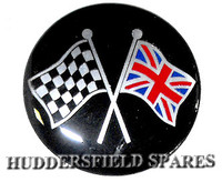 Cross flag 42mm oversticker