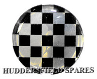 Black and silver chequer oversticker 42mm