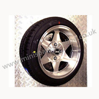 7x13 Superstar alloy wheel package for Classic Mini