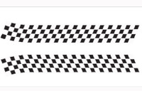 Chequer bonnet decal transfer stripes black and white