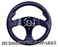 "11"" red stitched race steering wheel"
