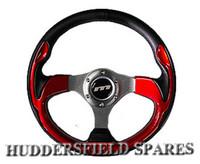 """13"""" red race steering wheel"""