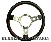 Red stitched standard type steering wheel