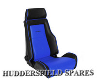 Cobra recliner blue and black signature seat