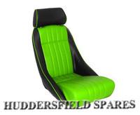 Cobra classic signature green and black seat