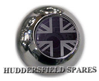 black and silver union jack ball gear knob