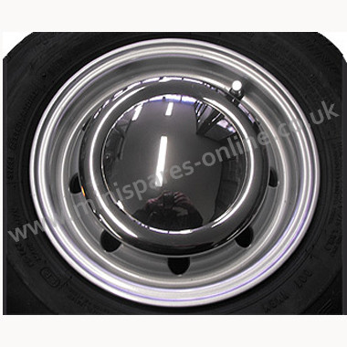 "Chrome hub cap for 10"" wheels"