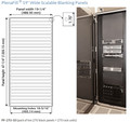 "PlenaFill® 27U Blanking Panel w/ 19"" Rails #PF-27U-10"