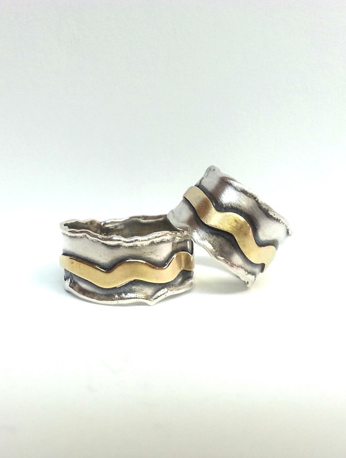 Brass Squiggle Ring