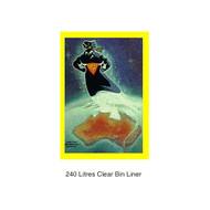 Super Tough 240L Clear Bin Liners 100 Bags (SB240LC)