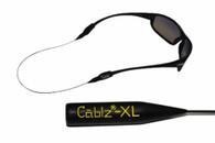 """Cablz 14"""" Zipz Xtra Large Adjustable Eyewear Retainer - Black"""