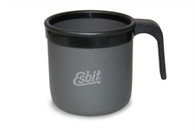 Esbit Hard Anodized Aluminum Mug with Plastic Handle