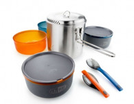 GSI Outdoors Glacier Stainless Dualist Cookware Set