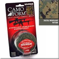 McNETT ACU Digital Camo Form Camouflage Tape 12ft Roll - Marpat Woodland