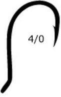 MUSTAD Beak Bait Hook Size 4/0 6 Pack 92568BLN