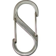 Nite Ize Carabiner, S-Biner Size #2,Stainless Steel