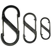 Nite Ize Carabiner, S-Biner 3 Pack,  Black,  Sizes 2, 3 & 4