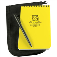 """Rite in the Rain"" 4x6 inch Weather Proof Kit with Pad, Black Cover & Pen"