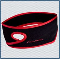 Trailheads Goodbye Girl Ponytail Headband - Black Fleece w/  Fire Red Trim