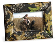 "Webers Camo Leather Goods Camouflage Leather Picture Frame (4""x 6"" size)"