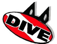 "Trailer Hitch Cover -  ""DIVE"" with Dive Flag Background (WP-227)"